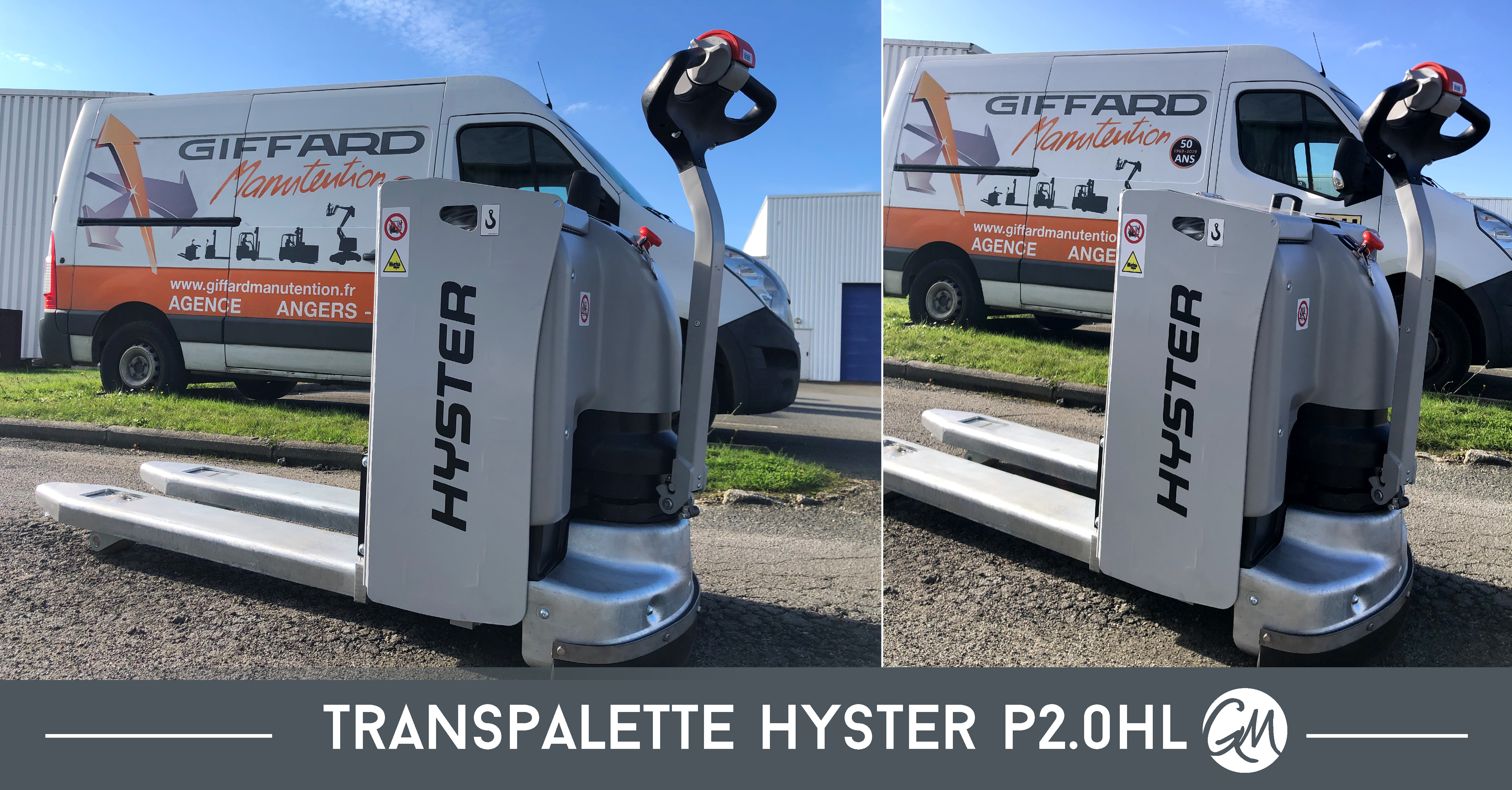 Un transpalette électrique P2.0HL distributé par Giffard Manutention
